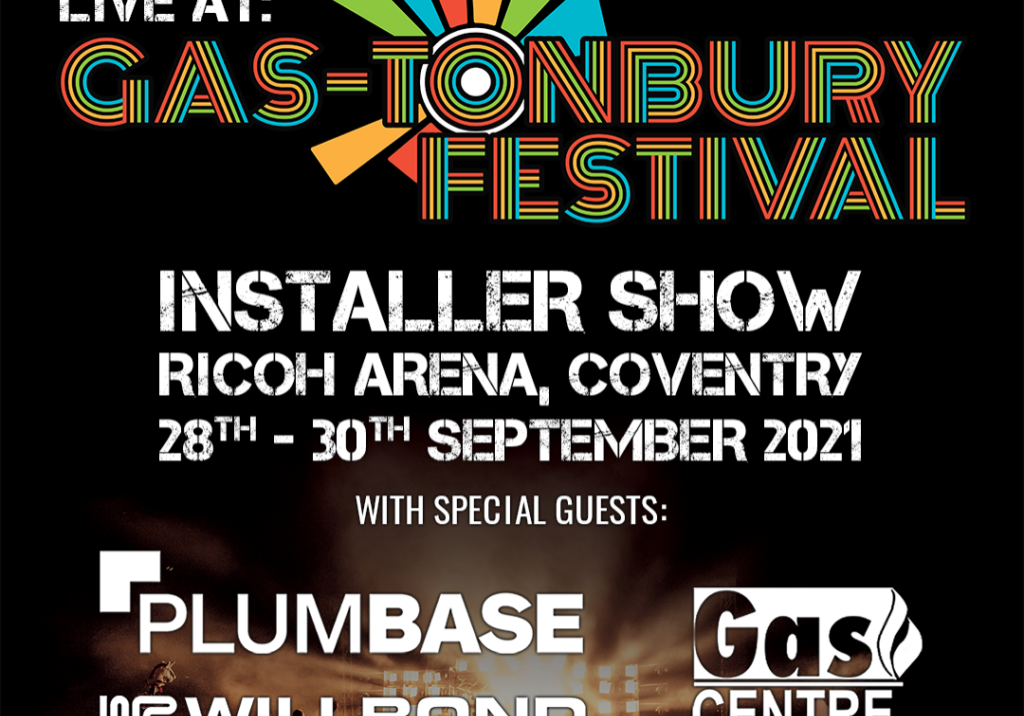 Gas-tonbury Logo on Audience Background SQUARE (we are live) 1080x1080
